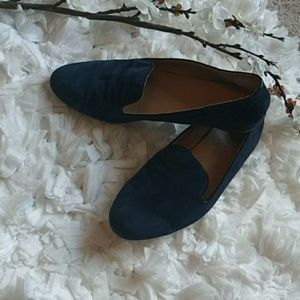 J.Crew Factory navy suede loafers